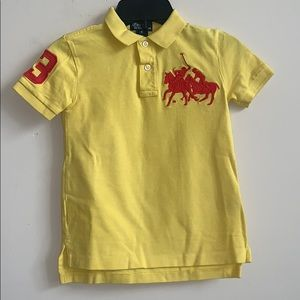Ralph Lauren Yellow Big Pony Embroidery Polo Shirt